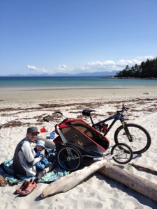 A training day with the Chariot on Hornby Island!