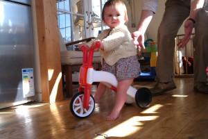 Tori on 1st Bike