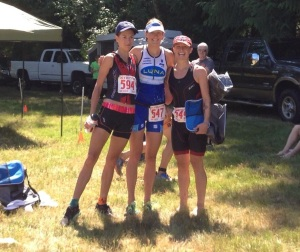 Women's top 3, L-R: Heather Zimchek, myself, Solana Kline