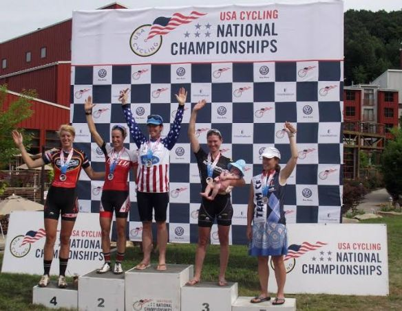 Rose 3rd on the Podium at US Super D Nationals Race with Layla - 4 months old!